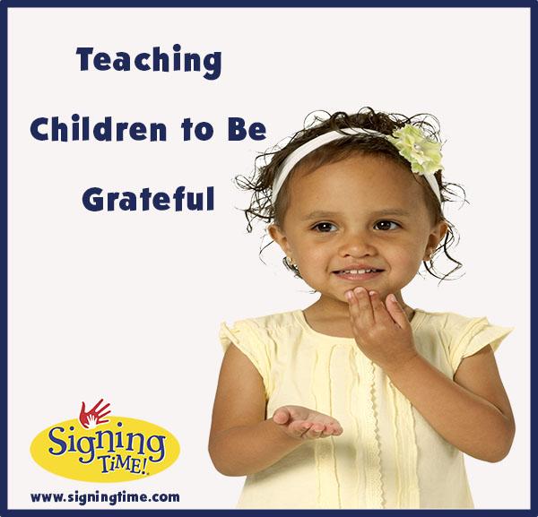 Teaching Children to Be Grateful