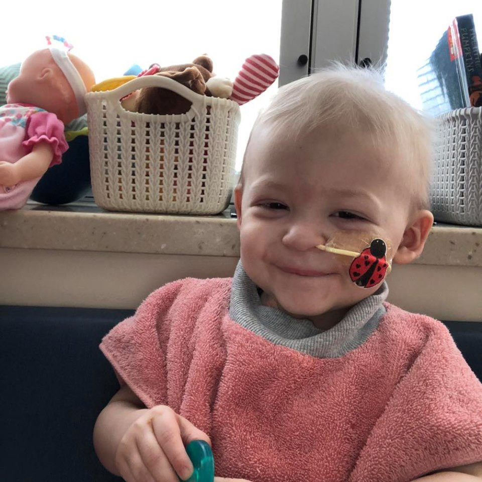 Sweet child cancer patient