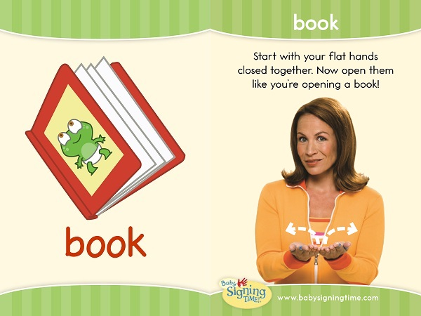 asl sign for book