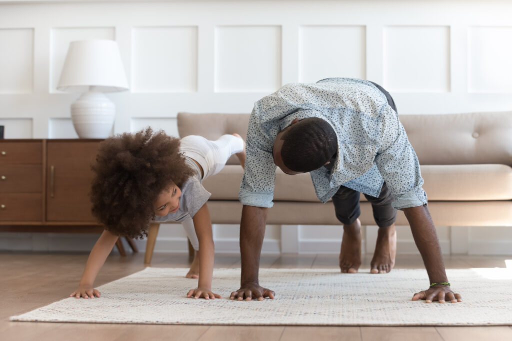 Exercising at home with your kids