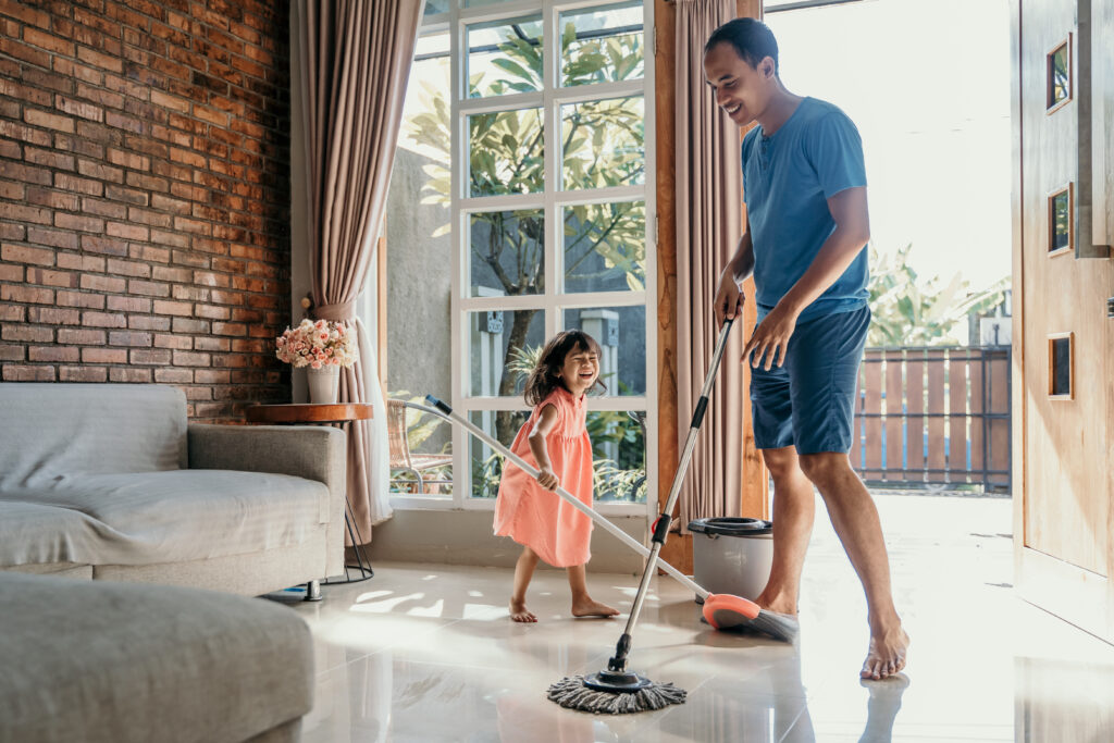 enjoy spring cleaning with your kids